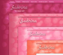 Премиум тема Sabrina для женского сайта