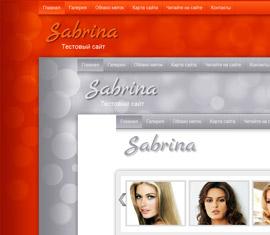 Шаблон для женского сайта Sabrina Premium